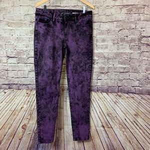 Lovesick Purple Acid Wash Skinny Jeans